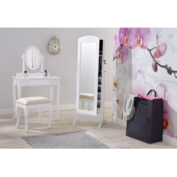 Home affaire Schminktisch, (Set), mit ovalem Spiegel und Hocker weiß Schminktische Tische Nachhaltige Möbel Tisch