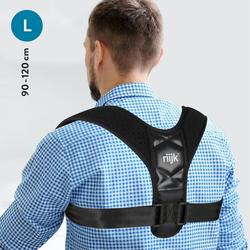 riijk Rückenstabilisator Rücken Geradehalter, Haltungskorrektur für Herren 90-120 cm Brustumfang Schultergurt für den Rücken Brust 90 - 120cm