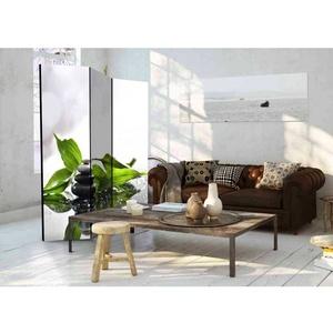 3-teiliger Paravent mit Zen Motiv 135 cm breit