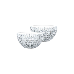 Nachtmann Vorratsdose Bossa Nova Schale 15 cm mit Silikondeckel 2er Set, Kristallglas, (2-tlg)