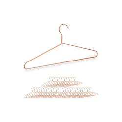 relaxdays Kleiderbügel 36 x Kleiderbügel kupfer