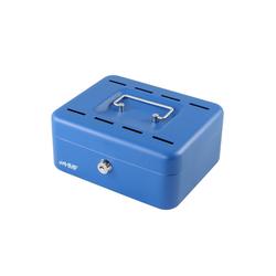HMF Geldkassette Sparkassette, mit 8 Einwurfschlitzen, 20 x 16 x 9 cm blau 20 cm x 9 cm x 16 cm