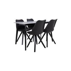 ebuy24 Essgruppe Voma Essgruppe, 1 Esstisch und 4 Stühle schw