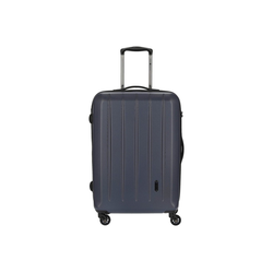 CHECK.IN® Trolley Cork 4-Rollen-Trolley 65 cm, 4 Rollen blau