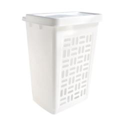 Wäschebox 60 l, Abmessungen: 44 x 35 x 61 cm, Farbe: weiß