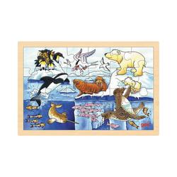 goki Puzzle Einlegepuzzle Polartiere, Puzzleteile