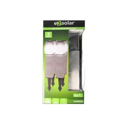 EZ SOLAR LED Gartenleuchte 4er Set LED Solar-Wegeleuchte mit bis zu 8 Lumen,