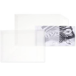 Versandtaschen Offset transparent C4 110g/qm HK VE=250 Stück weiß