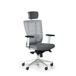 Bürostuhl metrim, weiß/grau