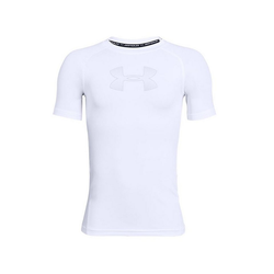 Under Armour® Funktionsshirt Heatgear SL Shirt Kids weiß
