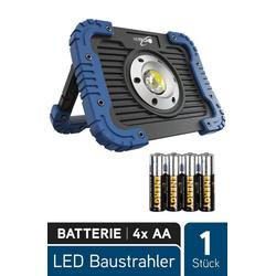 HEITECH Baustrahler LED Batterie Baustrahler 5W - Werkstattlampe mit 450 Lumen, COB LED, batteriebetrieben, stoßfest - LED Arbeitsleuchte Strahler Arbeitsscheinwerfer Flutlicht Arbeitslampe