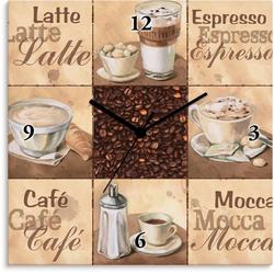 Artland Wanduhr Kaffee Collage II