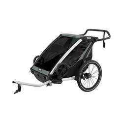 Thule Fahrradkindersitz Fahrradanhänger Chariot Lite 2, mint/schwarz grau