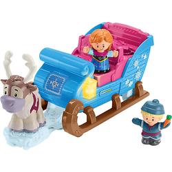 Fisher-Price Little People Frozen Kristoffs Schlitten, Eiskönigin Spielfiguren-Set blau Modell 1