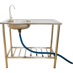 Jürgen Westerholt GmbH Waschtisch-Set, Outdoor Edelstahl Waschtisch mit Armatur