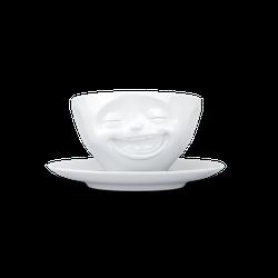 fiftyeight Kaffeetasse Lachend weiß