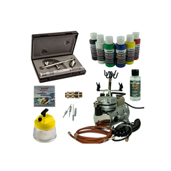 Airbrush-City Druckluftwerkzeug Nail-Art Airbrush Set - Ultra Two in One + Saturn 25 Kompressor - Kit 9104, (1-St)