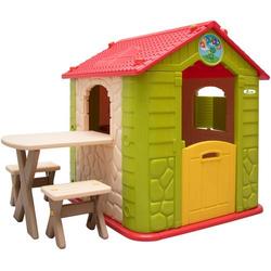 Kinder Spielhaus ab 1 - Garten Kinderhaus mit Tisch - Indoor Kinderspielhaus