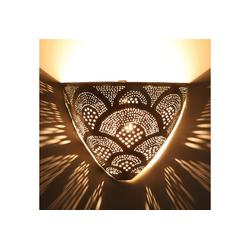 Casa Moro Wandleuchte Casa Moro, Marokkanische Silber-Wandlampe Kenan, AWL930