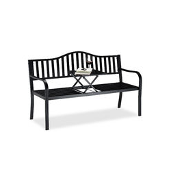 Garden Bench with Pop-up Table, 3 Seater. Integrated Table, Weatherproof, H x W x D 90 x 150 x 57.5