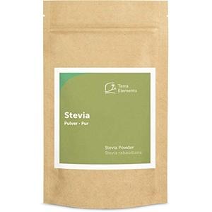 Terra Elements Stevia Pulver 100 g I Grünes Blattpulver I 100% natürlich I Aus Wildwuchs I Vegan