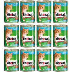 Kitekat Nassfutter Rind in Sauce, für Katzen, 12 Dosen á 400 g