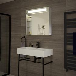 Onega LED beleuchteter Badezimmerspiegelschrank, von Hudson Reed