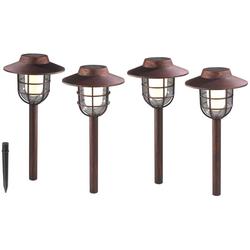 Solar Laternen in Antik Kupfer Optik - 4er Set