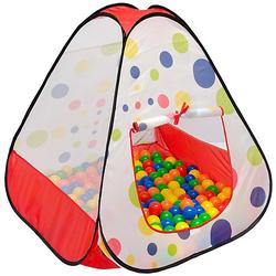 Kinder Pop Up Spielzelt - Bällebad Kinderzelt Bunt mehrfarbig