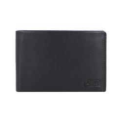 Edward Geldbörse Leder 11 cm L.Credi schwarz