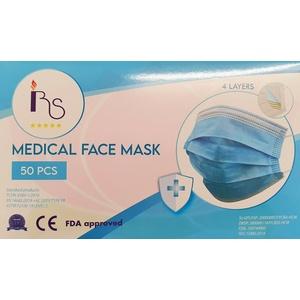 1- 500 medizinische OP Maske✔Typ IIR EN14683 Mundschutz Gesichtmaske 4-Lagig