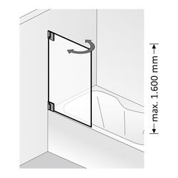 HSK K2 bewegliches Element für Badewanne… Beschichtung: ShowerGuard