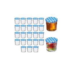 relaxdays Einmachglas Einmachglas 25er Set 150 ml, Glas blau