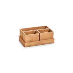 Neuetischkultur Aufbewahrungsbox Organizer mit 12 Fächern Bambus, Aufbewahrungsbox 17.7 cm x 11 cm