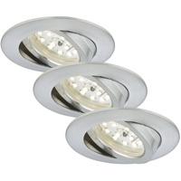 Briloner Leuchten LED Einbauleuchte 7232-039, Einbauleuchte SET dimmbar, schwenkbar alufarben EEK: A+]