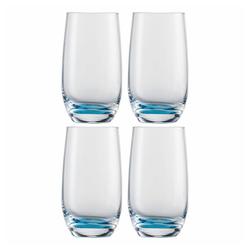 Eisch Becher 4er Set Jessica blau 350 ml, Kristallglas blau