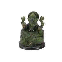 Guru-Shop Dekofigur Messingfigur Ganesha Statue 18 cm - Motiv 27