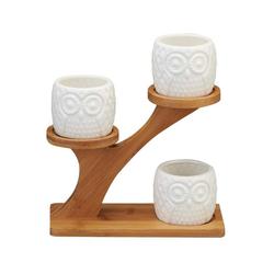 Gotui Blumentopf, Blumentopf, 3 Schichten Bambus-Rack-Platte