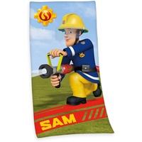 Herding Feuerwehrmann Sam Badetuch 75 x 150 cm grün