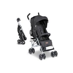 ABC Design Kinder-Buggy Genua - Woven Black, (2-tlg), Reisebuggy mit Liegefunktion - bis 22 kg belastbar