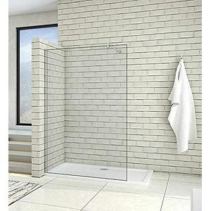 Acezanble 50cm Duschwand Walk in Dusche Duschtrennwand 8mm Nano Glas Duschabtrennung