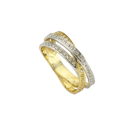 Diamonds by Ellen K. Ring 585/- Gold Diamant 0,24ct. gelb 017 (53,5)