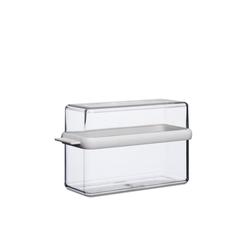 Mepal Vorratsdose Knäckebrotdose Stora weiß – Transparent, Styrol-Acrylnitril (SAN), Thermoplastische Elastomere (TPE), (1-tlg)