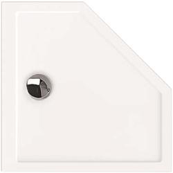 Hoesch Samar 5-Eck-Duschwanne 4462.010 100 x 100 x 2,5 cm, weiß, ultraflach