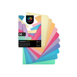 OfficeTree Bastelkartonpapier 50 Blatt Bastelpapier Pastell Töne, Tonpapier A4 300g/m² zum Basteln und Gestalten