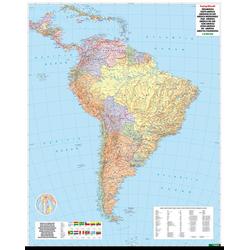 Südamerika physisch-politisch 1 : 8 000 000. Metallbestäbt