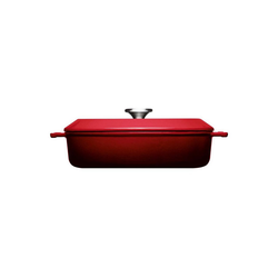 WOLL Kasserolle Kasserolle mit Deckel Ø 28 cm Iron, Gusseisen, (2-tlg) rot