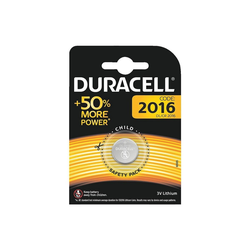 Duracell Knopfzelle, (1 St), CR 2016, lange Lebensdauer