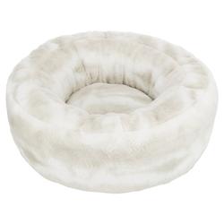 Trixie Bett Nelli weiß-taupe für Hunde, rund, Durchmesser: 50 cm