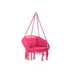 tectake Hängesessel Hängesessel Grazia (1-St) rosa